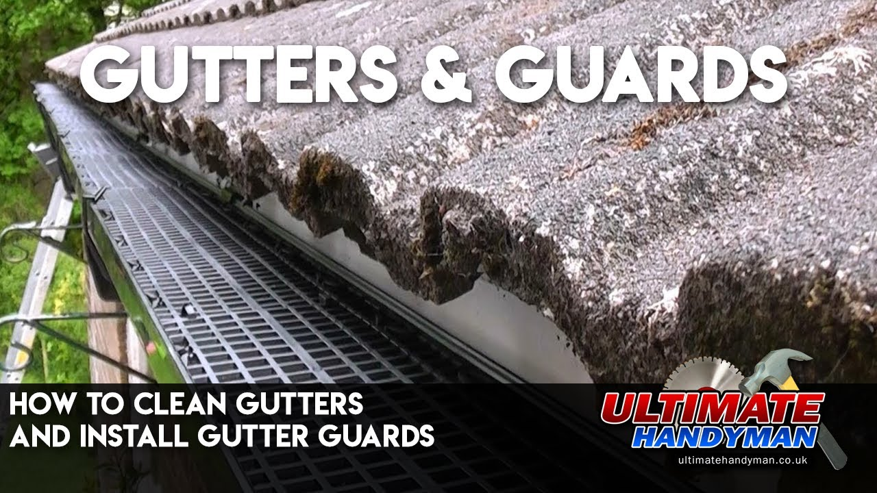 How To Clean Gutters And Install Gutter Guards Youtube