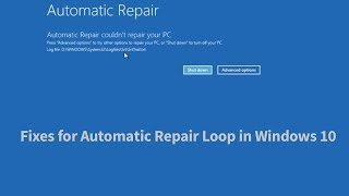 Automatic Repair Loop Fix Windows 10 [3 Ways]