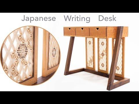 Making a Japanese Writing Desk with Kumiko