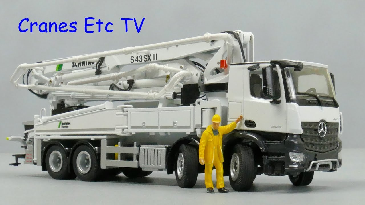 NZG Schwing S 43 SX III Mobile Concrete Pump by Cranes Etc TV