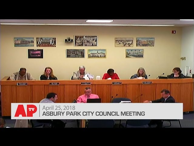 Asbury Park City Council Meeting - April 25, 2018