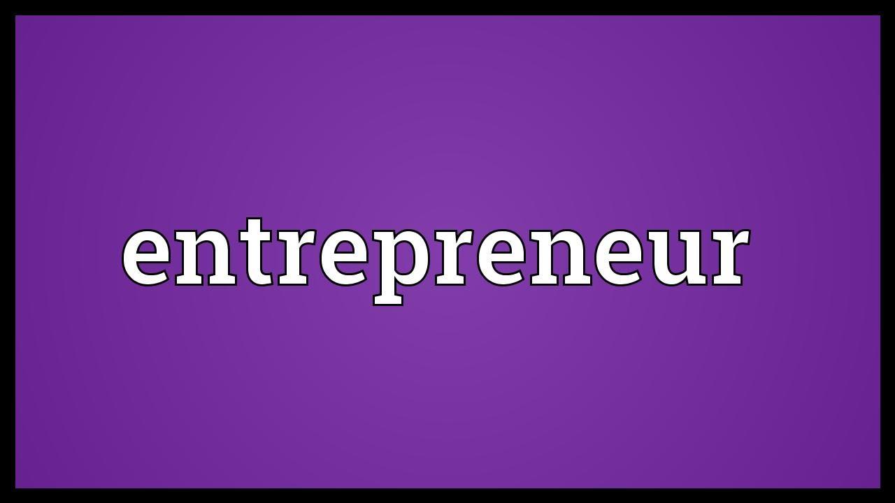 Entrepreneurial Meaning
