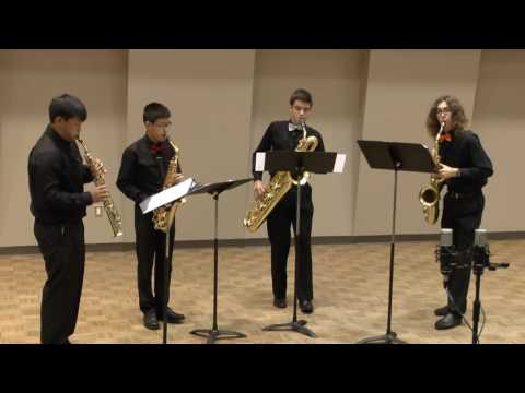 Men in Black Sax Quartet 2016 - Singelee's Allegro de Concert