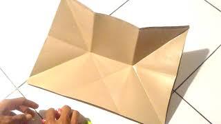 Cara melipat kertas bungkus nasi lebih praktis cepat dan mudah