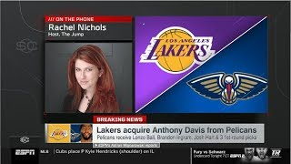 Rachel Nichols (The Jump) report: Lakers acquire Anthony Davis from Pelicans