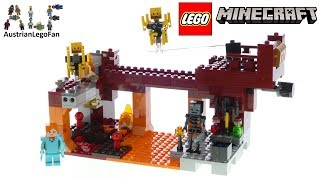 Lego Minecraft 21154 The Blaze Bridge - Lego Speed Build Review