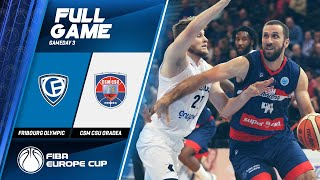 Fribourg Olympic v CSM CSU Oradea - Full Game - FIBA Europe Cup 2019-20