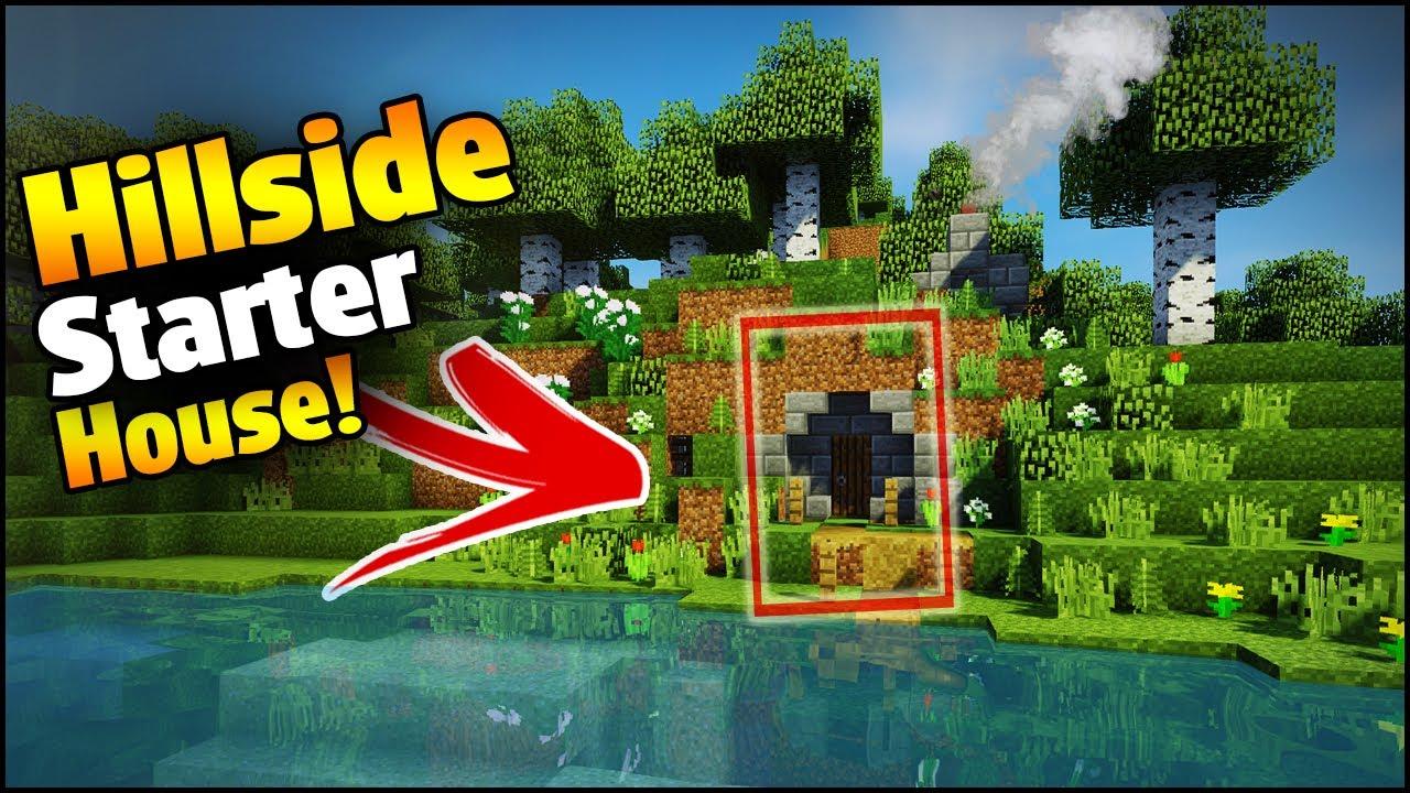 Minecraft Creative Tips Tricks: Minecraft: Hillside Starter House Tutorial