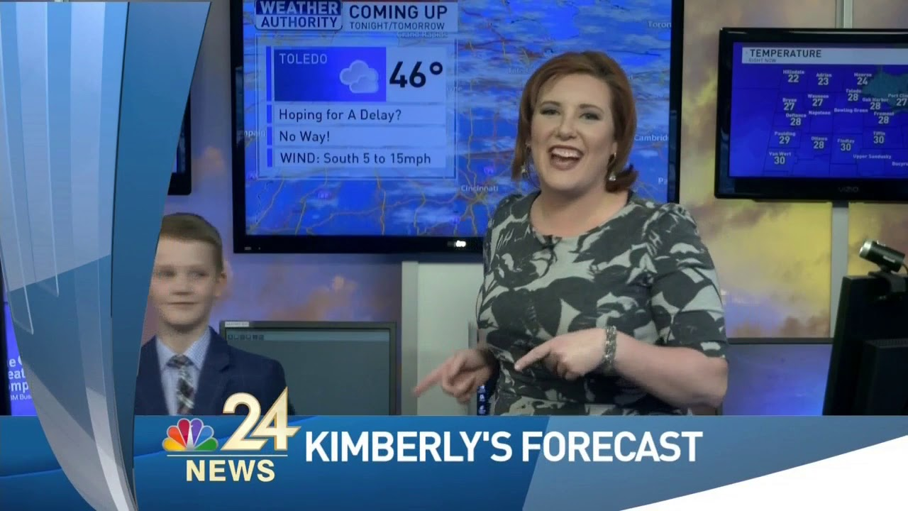 Weather Tease Blooper! with Meteorologist Kimberly Newman and Weather Kid  Jack
