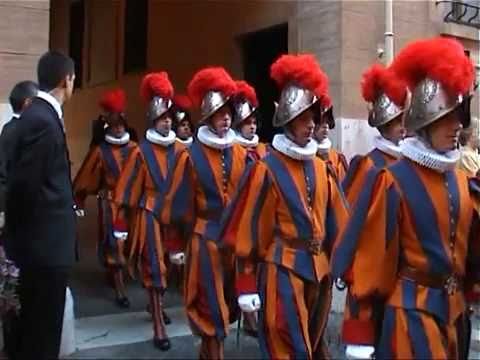 The Pontifical Swiss Guard Ceremony at the Vatican