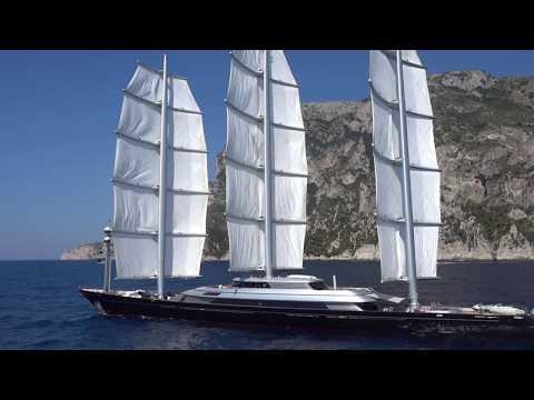 Sailing yacht Maltese Falcon, 88 m.