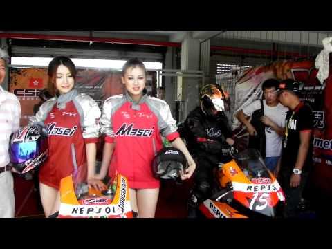 Masei Helmet in CSBK Shanghai China with Chinese Hot Girls