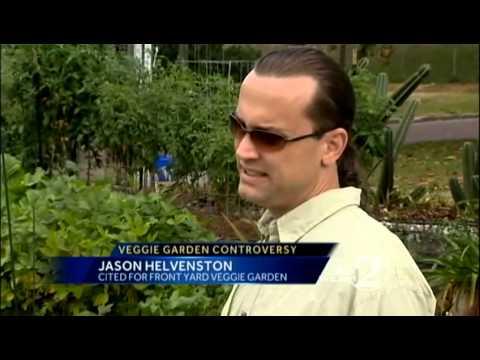 City orders man to remove vegetable garden