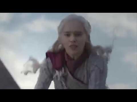 Rhaegal shot down and Killed by Euron ||  Death of Dragon || GOT S08E04