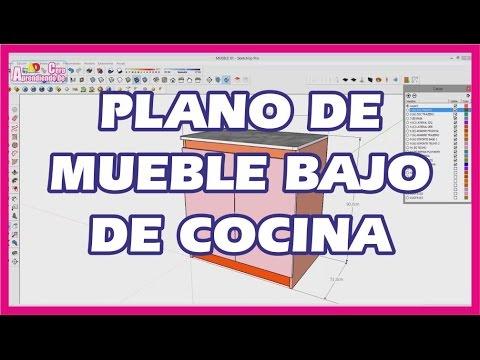 PLANO DE MUEBLE BAJO DE COCINA - YouTube