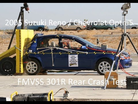 2004-2007 Suzuki Reno / Chevrolet Optra5 FMVSS 301R Rear Crash Test