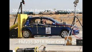 2004-2007 Suzuki Reno / Chevrolet Optra5 Fmvss 301R Rear Crash Test