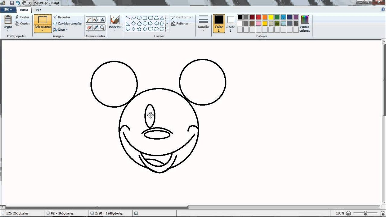 como dibujar a mickey mouse - YouTube