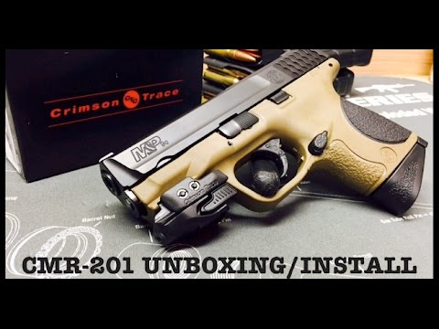 Crimson Trace CMR-201 Rail Master Laser Unboxing/Install