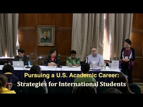 Pursuing a U.S. Academic Career: Strategies for International Students