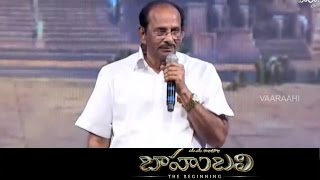 V. Vijayendra Prasad Speech @ Baahubali Audio Launch - Prabh...