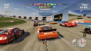 NASCAR 2011: The Game - Richard Towler Gameplay on Auto Club Speedway (2011) | HD