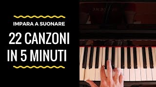 Imparare a Suonare 22 Canzoni al Pianoforte in 5 Minuti