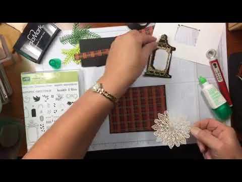 Christmas Seasonal Lantern on Plaid Card Video Tutorial