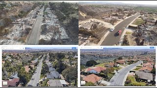 Los Angeles Fire -Aerial view,,BEFORE AND AFTER FIRE;Dec.2017,Southern california
