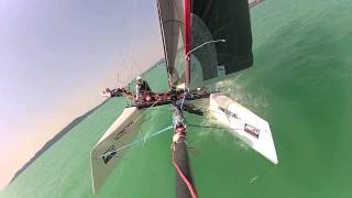 F18 WildCat Catamaran GoPro Sailing HUN144 @ Lake Balaton /TEST VIDEO LONG VERSION/