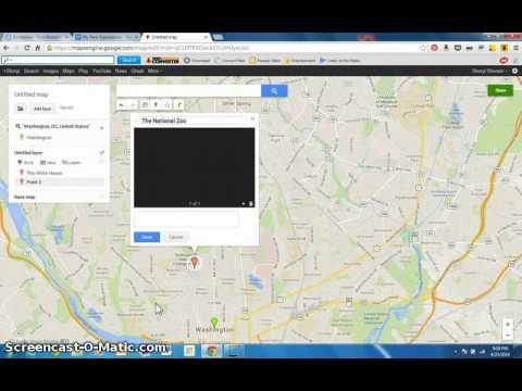 How to make a Google map with pins by Sheryl