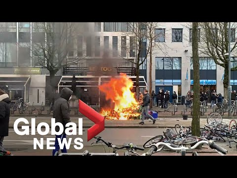 Coronavirus: Anti-lockdown riots in the Netherlands continue for 3rd night as PM condemns violence