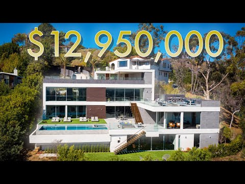 $12,950,000 HOLLYWOOD HILLS MANSION with breathtaking views of Los Angeles