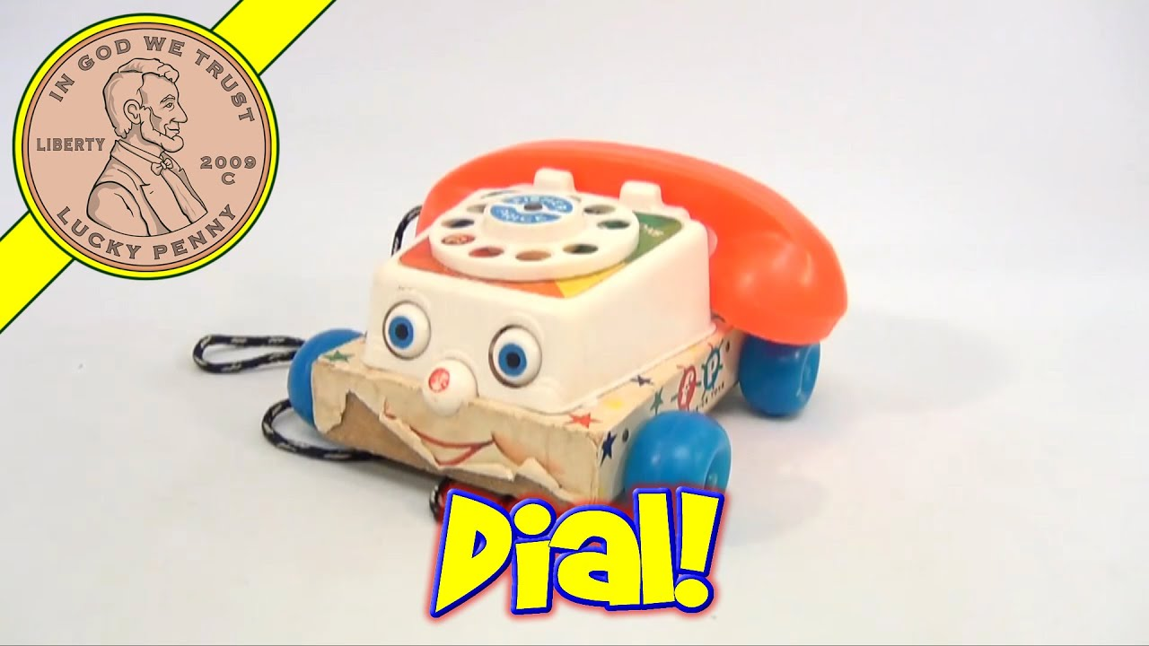 Vintage 1960 s Fisher Price Rolling Chatter Telephone Toy 747