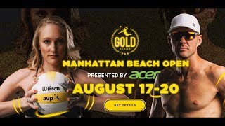 2017 AVP Manhattan Beach Women's Open Flint & Larsen vs  Claes & Hughes