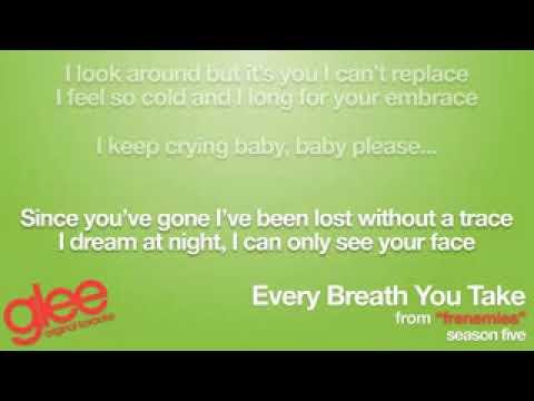 Every Breath You Take Glee Karaoke Version Lyric On Screen low