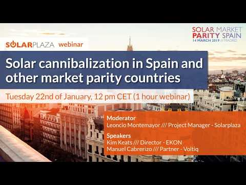 Solar cannibalization in Spain and other market parity countries | Solar Market Parity Spain