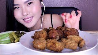 ASMR ~ Eating Fried Chicken Wings & Legs ~ Crunchy Mukbang