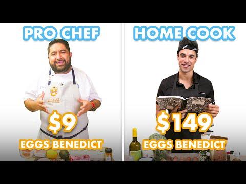 $149 vs $9 Eggs Benedict: Pro Chef & Home Cook Swap Ingredients | Epicurious