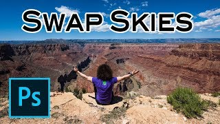 Adobe Photoshop Tutorial How To SWAP SKIES In Your Landscape Photos