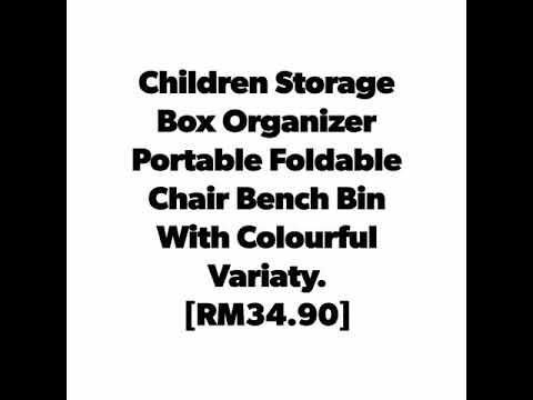 Children Storage Box Organizer Portable Foldable Chair Bench Bin With Colourful Variaty.