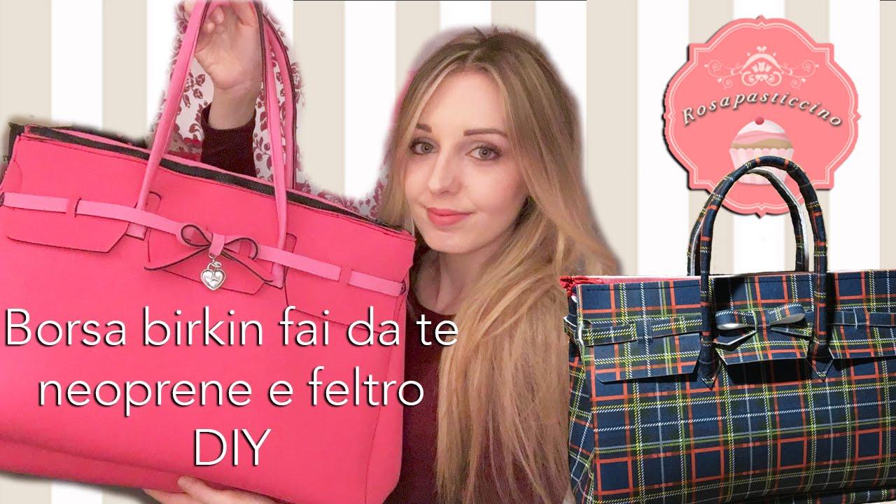 Famoso Come fare una borsa birkin in neoprene o feltro - DIY idea regalo  AZ99