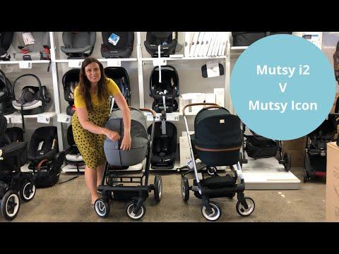 Mutsy Пакет Шаси Mutsy Icon Standard (Св.кафява Дръжка) + Кош За Новородено И Седалка Mutsy Icon VISION Classic Grey #pHrqAEvSJTE