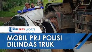 Penampakan Mobil PJR Polisi yang Tertabrak Truk di Tol Tangerang Merak, Roda Truk Lindas Mobil