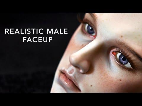 Painting a Realistic Male Faceup - 5th Motif Venitu - Timelapse
