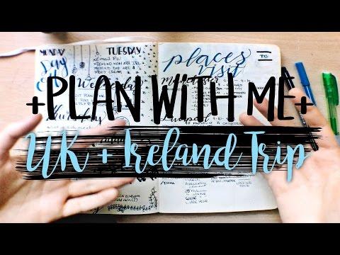 Bullet Journal Travel Plan With Me | UK + Ireland Spring Break Trip