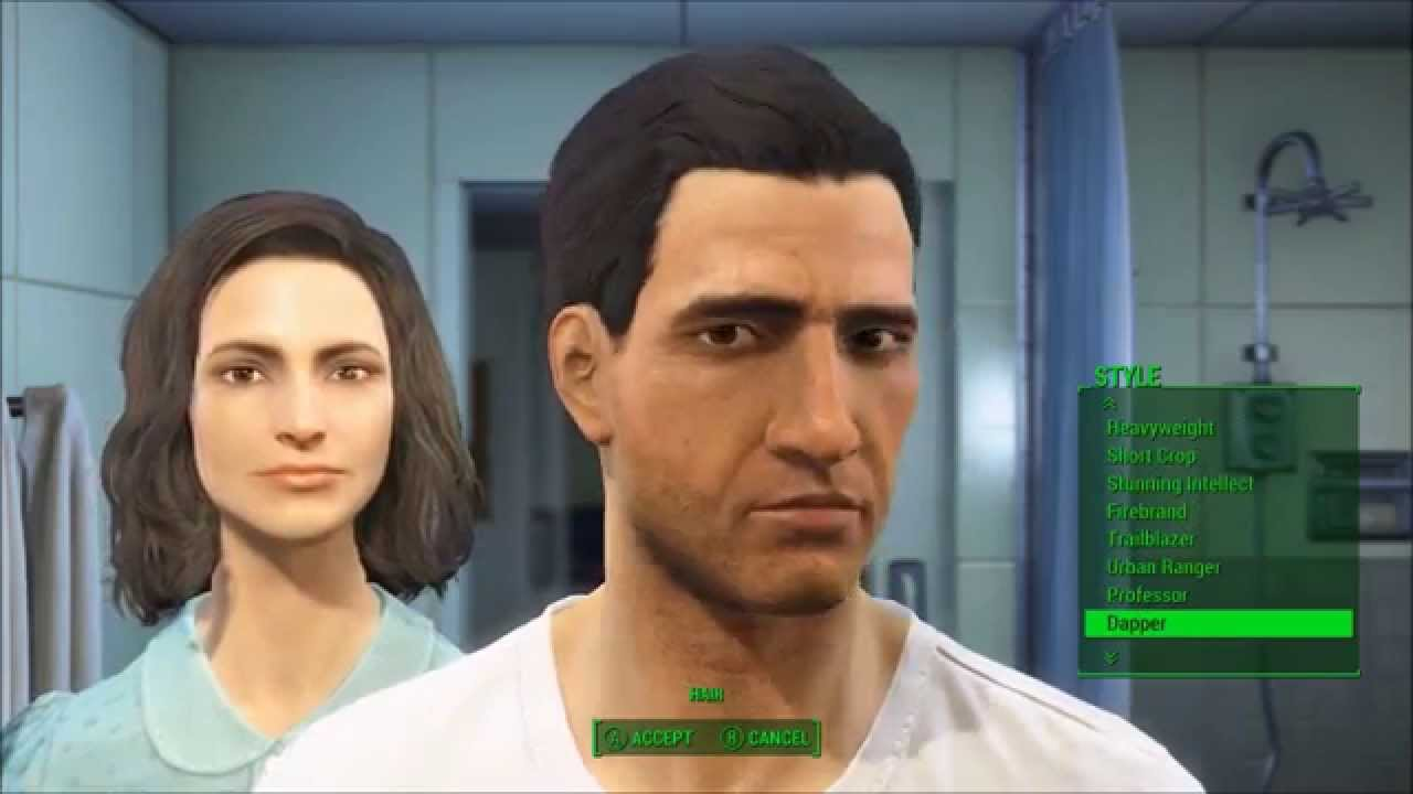 ALL MALE HAIRSTYLES- Fallout 3 Character Creation!