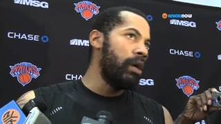 Rasheed Wallace talks to the media after practice 10/23/12