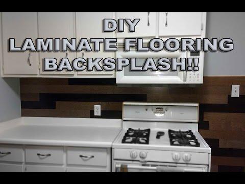 LAMINATE FLOORING BACKSPLASH!!