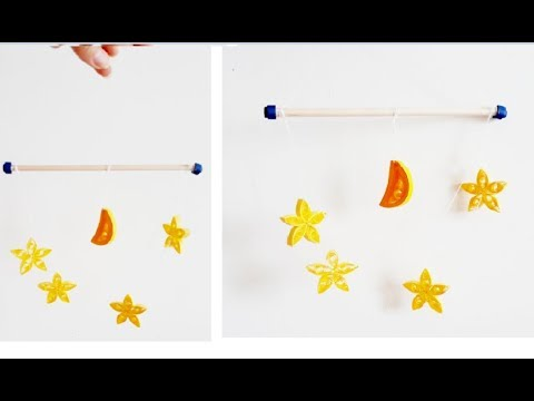 DIY Paper Quilling Wall decoration 3 // quilling wall mobile// Quilling Star and Moon
